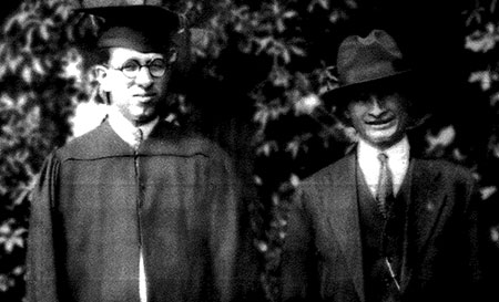 Giacondo Falvello, left, graduated from the Dickinson School of Law in 1923, and is seen here with his father Anthony.